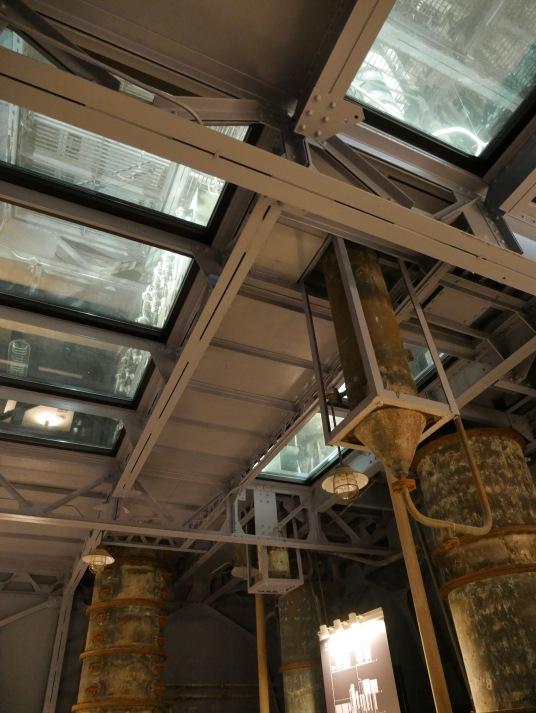 column stills go through the ceiling